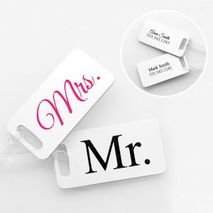Personalized Mr. & Mrs. Luggage Tag Set image