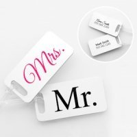 Personalized Mr. & Mrs. Luggage Tag Set