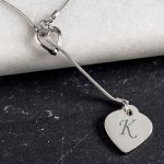 Monogrammed Double Heart Necklace