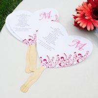 Do it Yourself Heart Fan Wedding Programs Kit