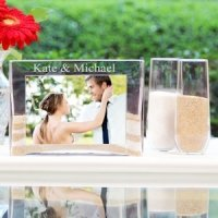 Glass Sand Ceremony Picture Frame and Vase Kit