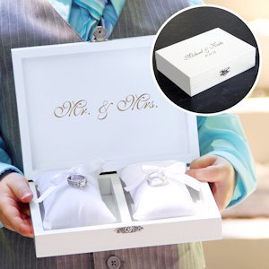 Ring Bearer Pillow Keepsake Box (Black or White) image