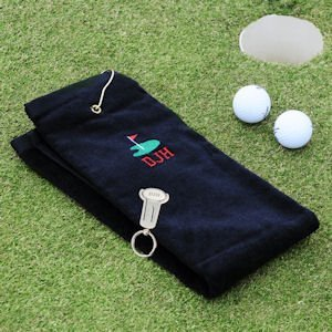 Personalized Golf Towel & Key Ring Tool Set image