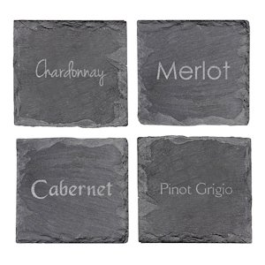 Wine Connoisseur Slate Coasters (Set of 4) image