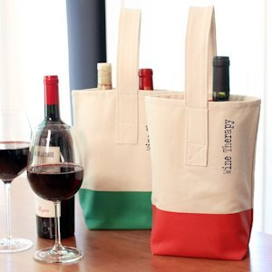 Wine Therapy Color Dipped Wine Totes image