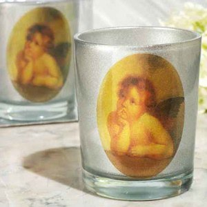 Heaven Sent Silver Cherub Candle Holder image
