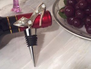Dazzling Divas Shoe Wine Bottle Stopper image