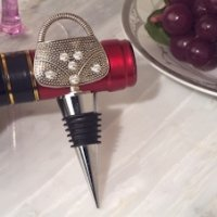 Dazzling Divas Handbag Wine Bottle Stopper