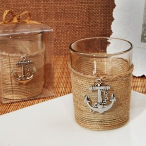 Nautical Charm Rustic Candle Holder Favor image