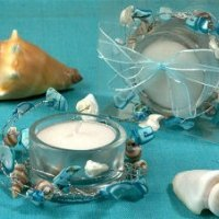 Blue Beach Theme Candle Holder