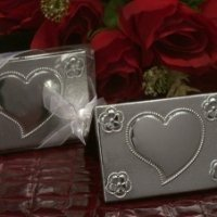 Two Piece Silver Compact Mirror