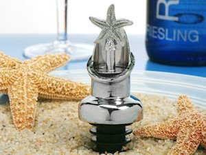 Starfish Combo Wine Pourer and Bottle Stopper Favors image