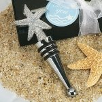 Chrome Starfish Wine Stopper Favors