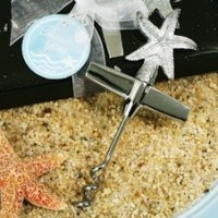 Chrome Starfish Design Wine Opener Favors