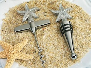Beach Theme Starfish Wine Set Favors image