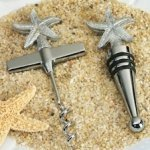 Beach Theme Starfish Wine Set Favors