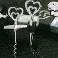 Two Hearts Chrome Wine Set