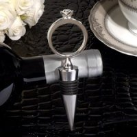 Diamond Ring Bling Design Silver Wine Stopper