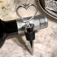 Unique Heart Diamond Wine Stopper