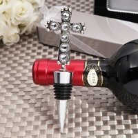 Stunning Cross Design Bottle Stopper Favor