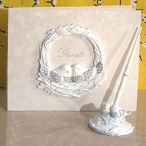 Lovebirds Wedding Accessory Set image