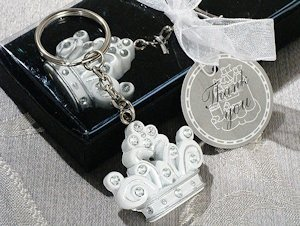 Sparkling Tiara Keychain Favors image