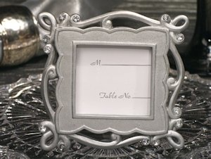 Charming Chic Silver Place Card Frame Favors image