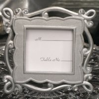 Charming Chic Silver Place Card Frame Favors