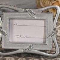 Contemporary Design Silver Place Card Frame Favor