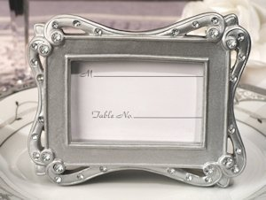 Silver Sophistication Place Card Frame image