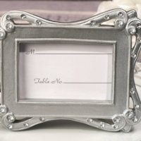 Silver Sophistication Place Card Frame