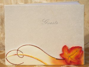 Splendid Autumn - Fall Wedding Guest Book image