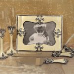 Sophisticated Ivory Fleur De Lis Accessory Set
