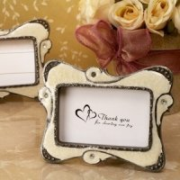 Stylish Ivory Swirl Victorian Place Card Frames