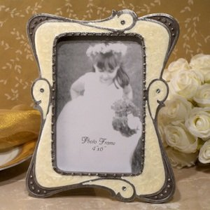 Chic Ivory Photo Frame Favor image