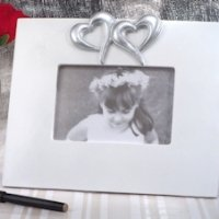 Two Hearts Beat as One Wedding Guest Signature Frame