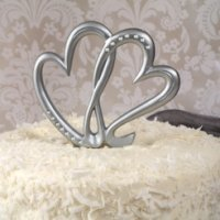 Two Hearts Beat as One Cake Topper