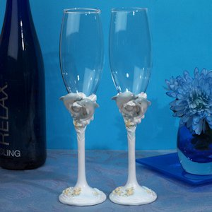 Oceans of Love Toasting Flutes image