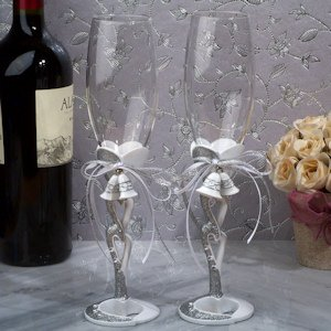 Wedding Bells Toasting Flutes image