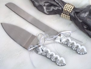 Wedding Bells Cake and Knife Set image