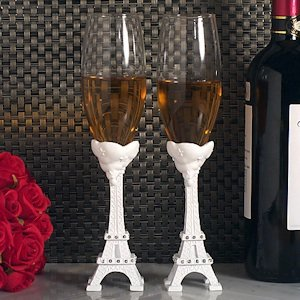 Elegant Paris Wedding Collection Toasting Flutes image