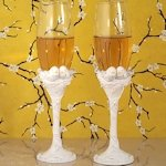 Lovebirds Wedding Collection Toasting Flutes