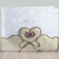 Lucky in Love Western Wedding Guest Book