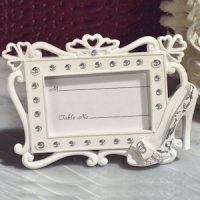 belle of the ball shoe design place card frame