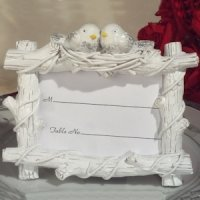 Lovebirds Place Card Holder