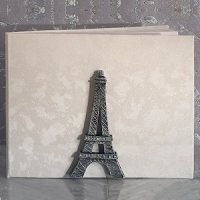 Stunning Eiffel Tower Wedding Guest Book