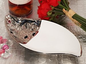 Ornate Elegance Porcelain Bowl Accented with Silver Trim image
