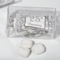 25th Anniversary Gift Box Mint Candy Favors