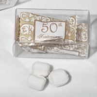 50th Anniversary Gift Box Mint Candy Favors