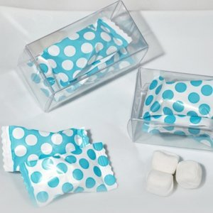 Bridal Shower Dots Gift Box Mint Candy Favors (Blue or Pink) image